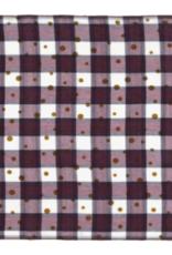 Mois Mont Checkered Plum Scarf