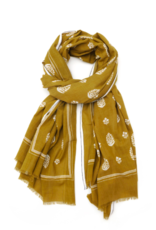 Mois Mont Floral Print Scarf in Tobacco