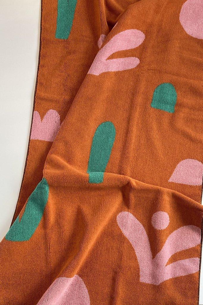 Beach Towel Dark Orange