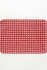 Small Check Coated Linen Trays