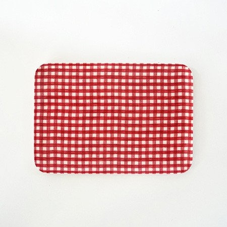Fog Linen Work Small Check Coated Linen Trays