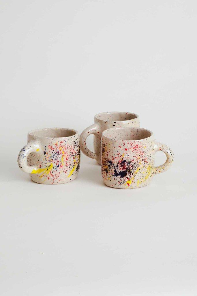 Alice Cheng Studio Handmade Ceramic Mug with Splatter Print