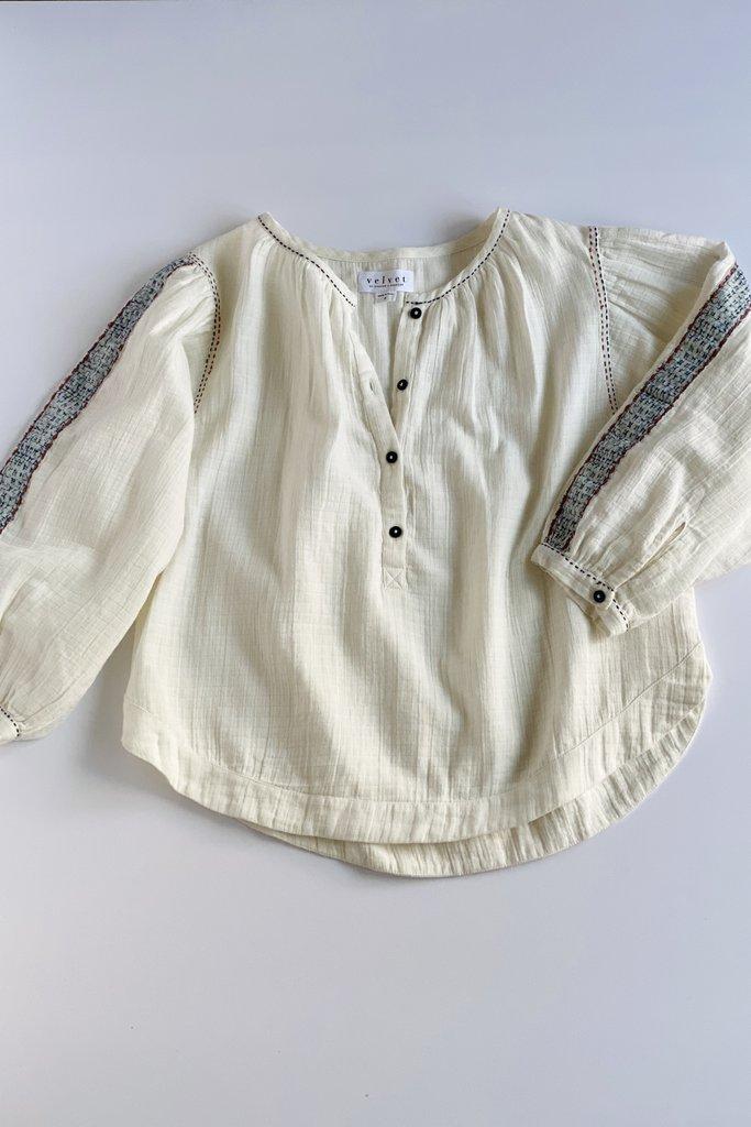 Velvet Gabby Cotton Double Gauze Shirt