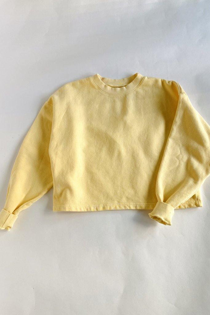 Cotton Cropped Sweatshirt