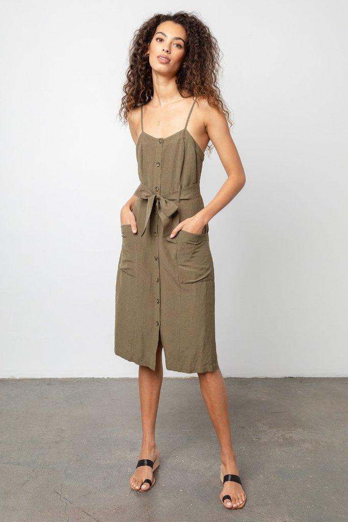 Sleeveless Linen Blend Summer Dress