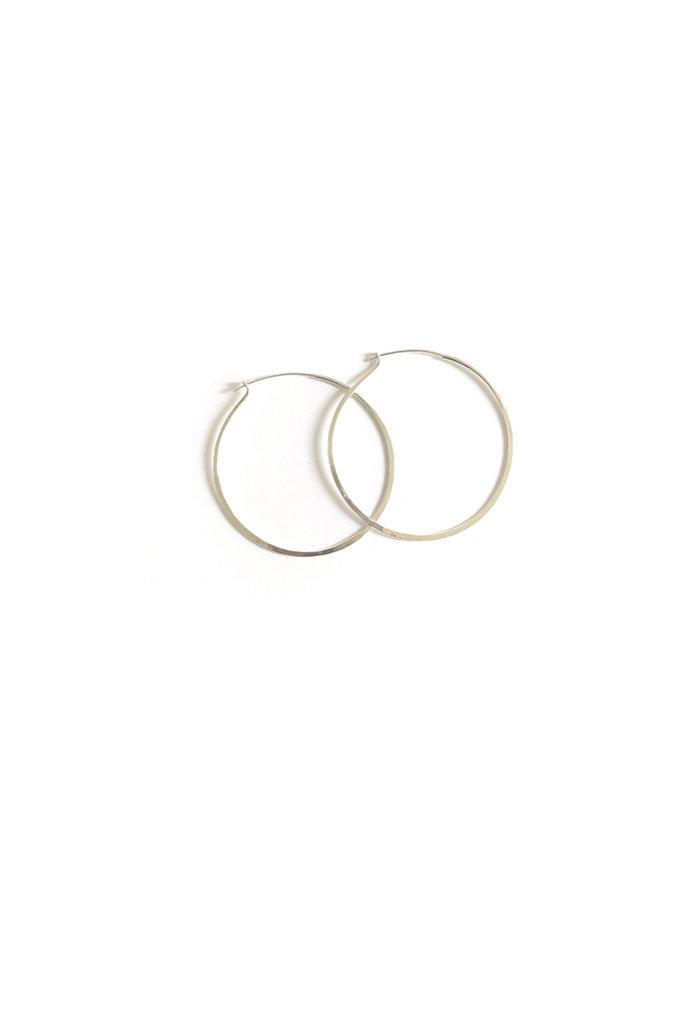 Marisa Mason Medium Hammered Sterling Silver Hoop Earrings