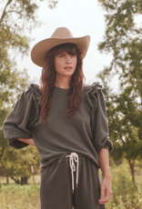 The Great Oversized Sweatshirt with Eyelet Shoulder Detail