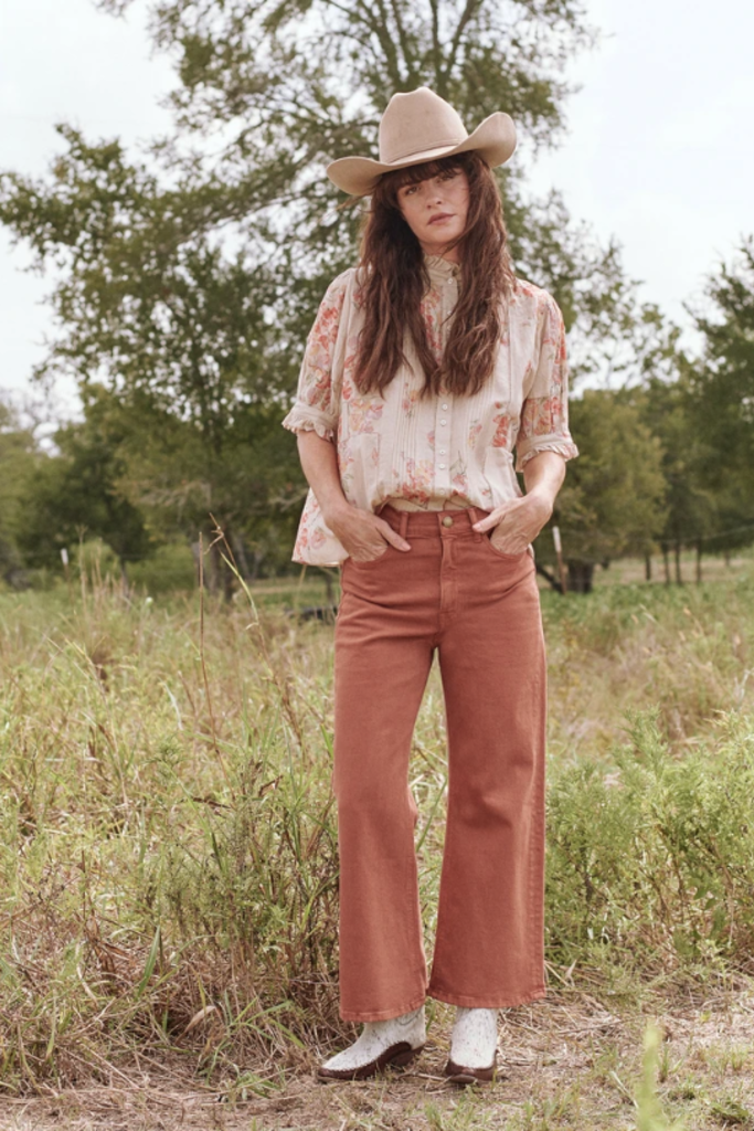 Vintage-Inspired High Waisted Wide-Leg Jeans