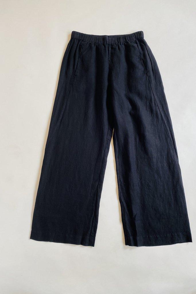 Velvet Lola Relaxed Black Linen Pants