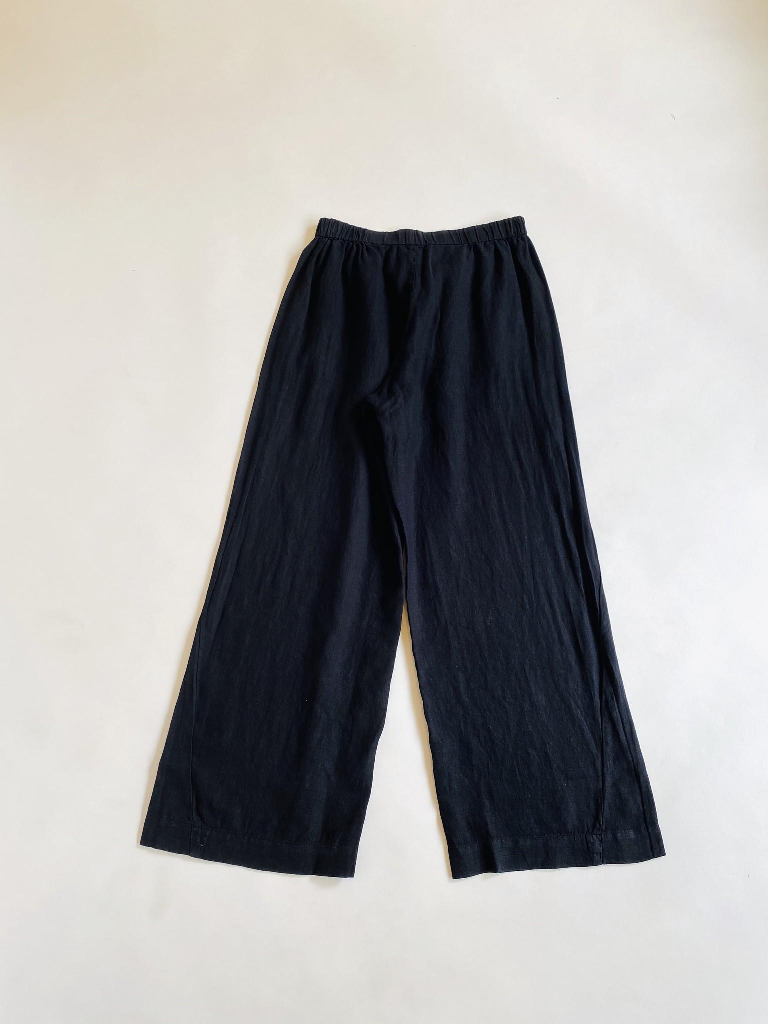 Velvet Velvet Lola Relaxed Black Linen Pants