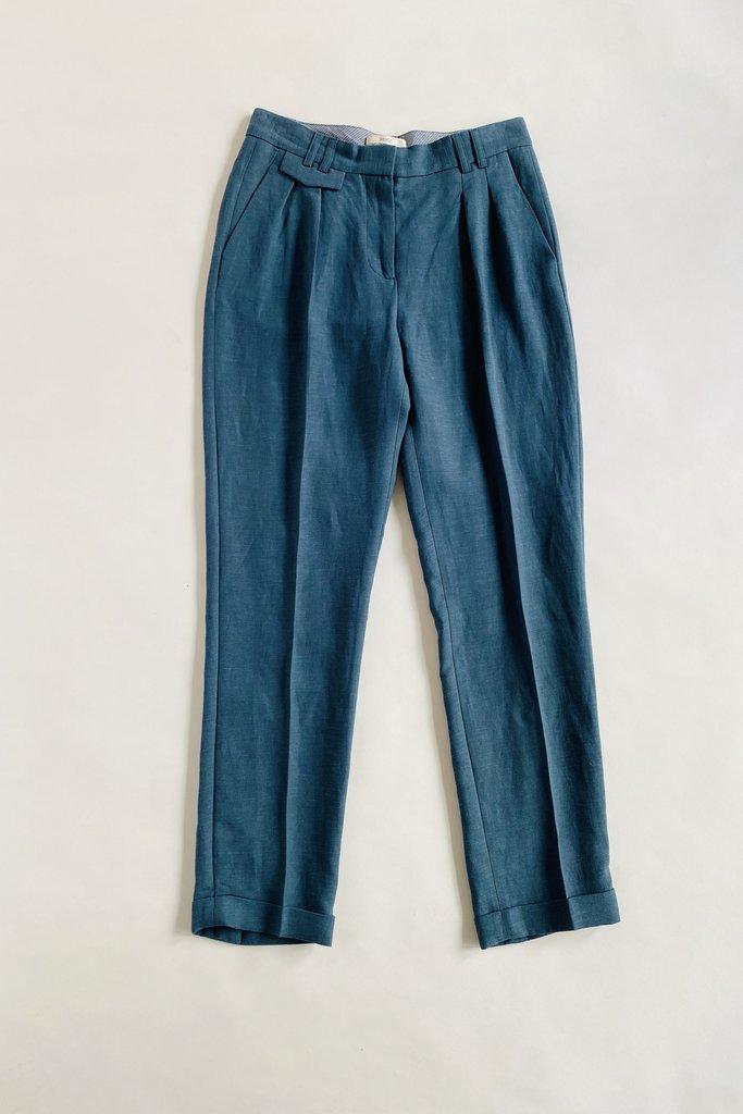 Mansfield Teal Pleated Pants