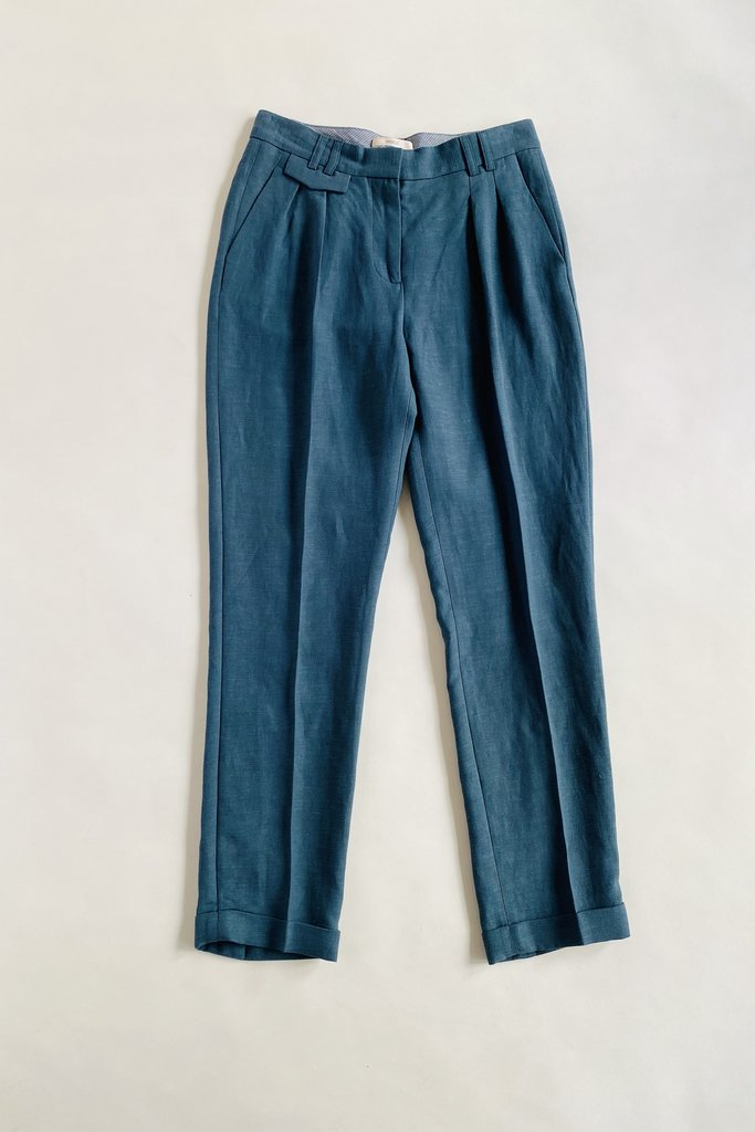 Sessun Mansfield Teal Pleated Pants