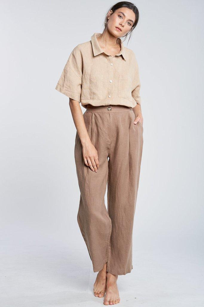 filosofia ella Tapered Linen Pants