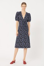 masscob Masscob Buarque Ruched Floral-Print Cotton Dress