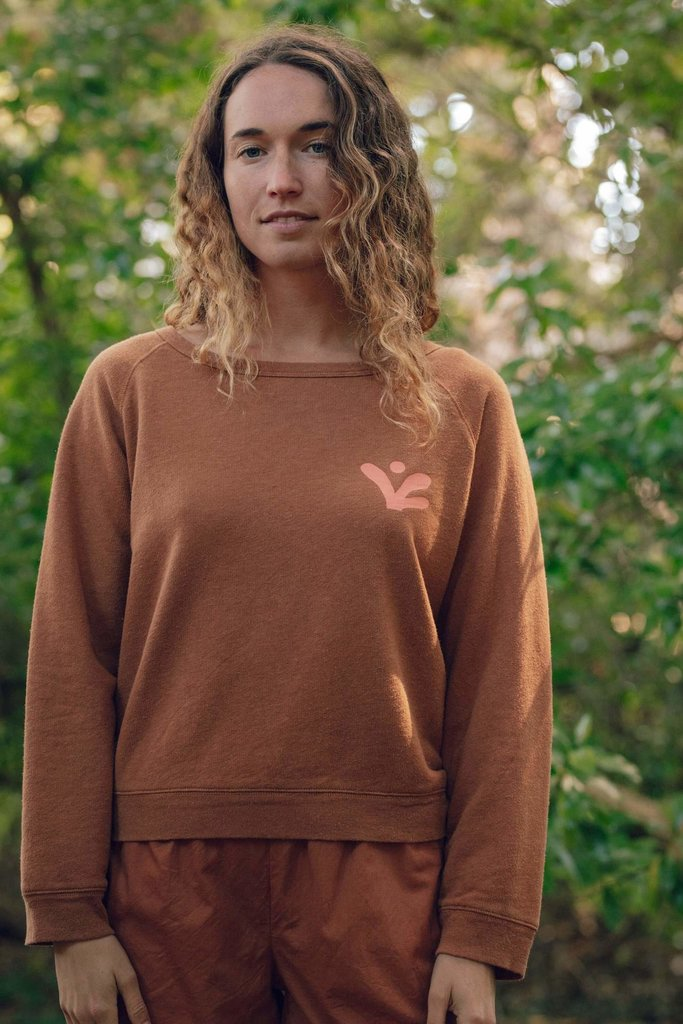 Napes Hemp and Cotton Blend Crewneck Sweatshirt
