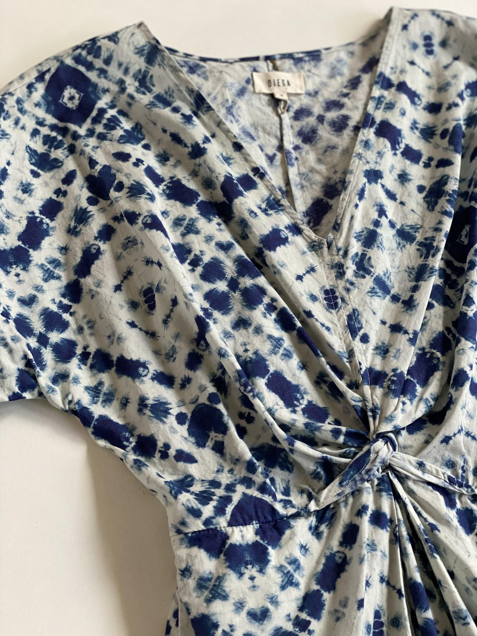 Diega Diega Rosata Blue Cotton Dress