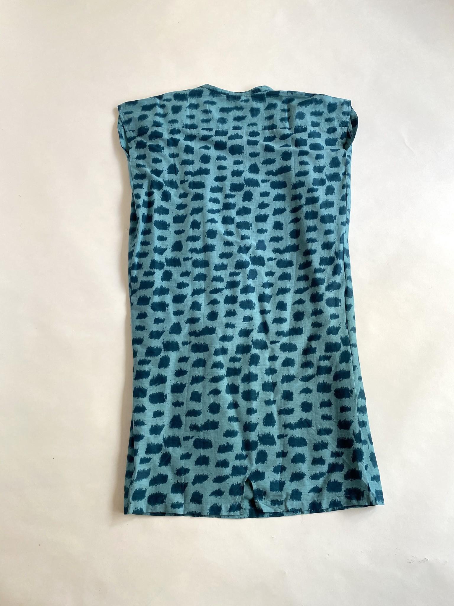 Diega Diega Rega Teal Cotton Dress