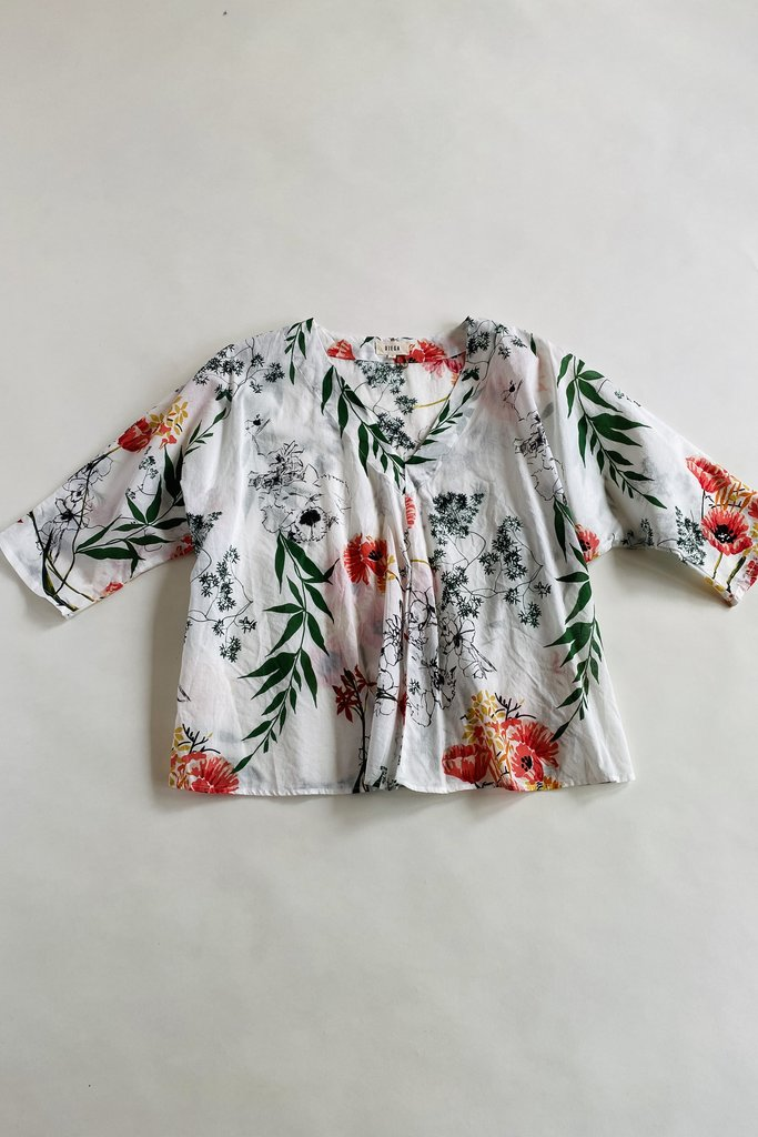 Diega Totia Floral Cotton Top