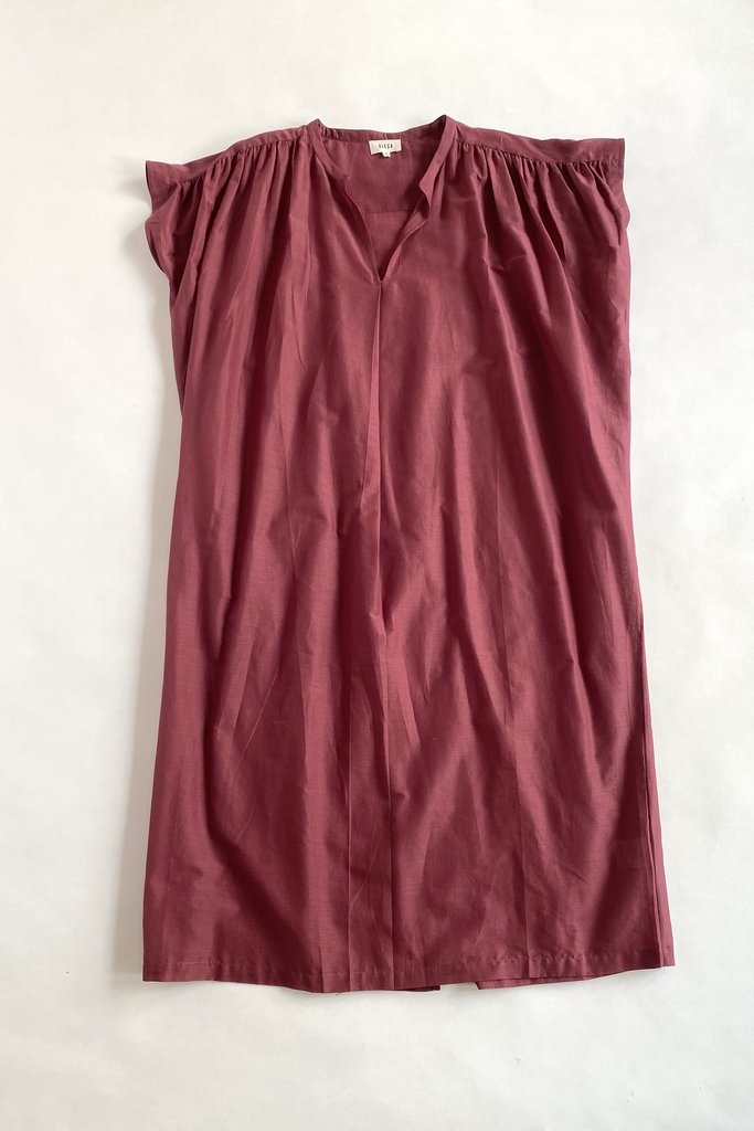 Diega Diega Rega Burgundy Cotton Dress
