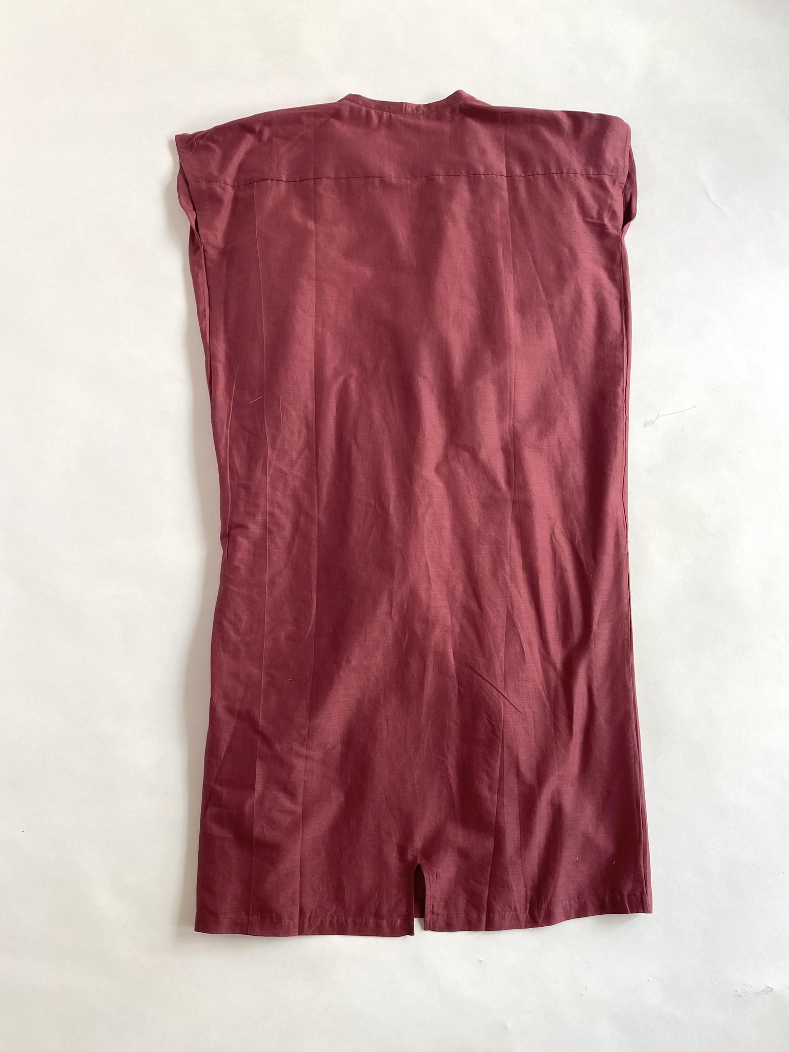 Diega Diega Rega Burgundy Cotton Dress
