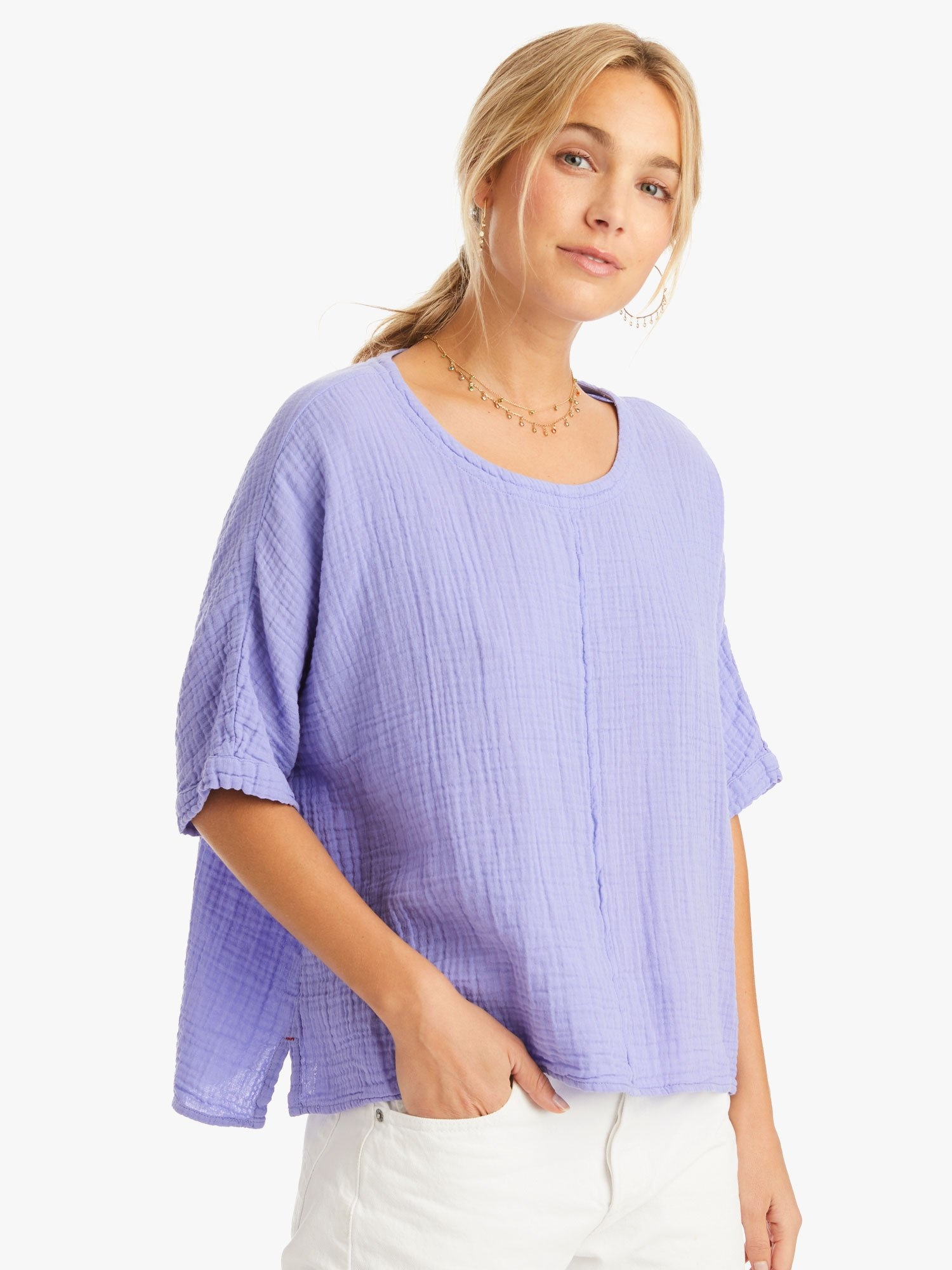 Xirena Xirena Landon Cotton Gauze Top