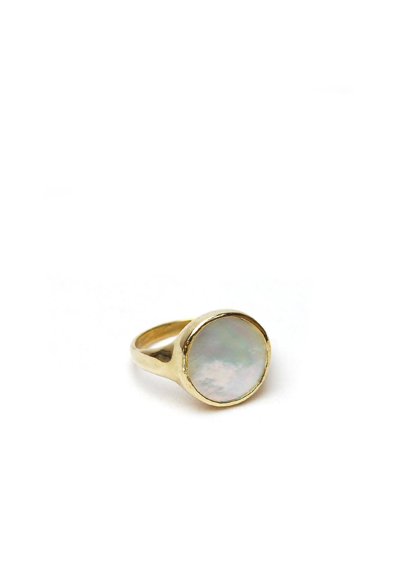 tiro tiro Tiro Tiro Lacuna Ring Mother of Pearl Brass Signet