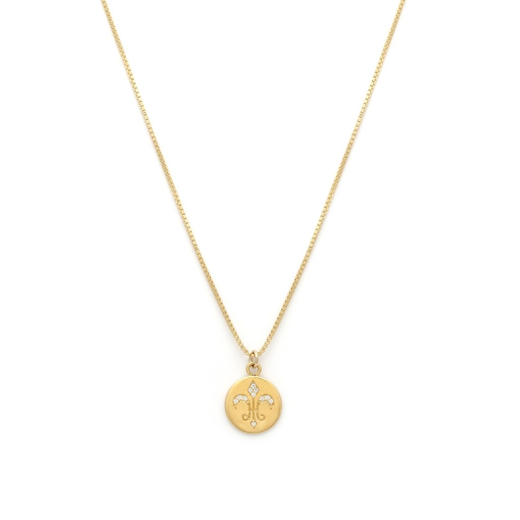 Leah Alexandra Leah Alexandra Gold Plated Fleur de Lis Necklace