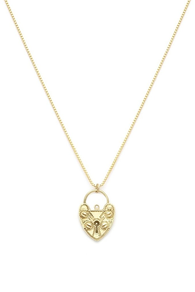 Leah Alexandra Gold Fill Lovelock Necklace