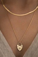 Leah Alexandra Gold Fill Lovelock Necklace