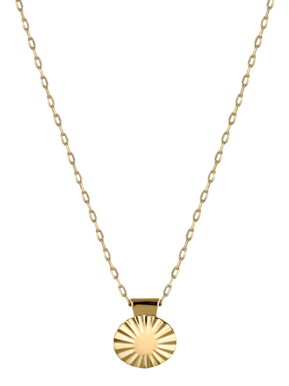 Trois Petits Points Gold Fill Ellipse Necklace