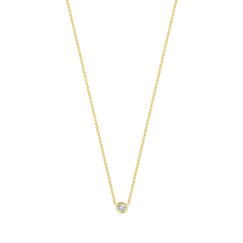 Hortense Hortense Flirty Necklace White Diamond Solitaire on 14KT Gold Chain