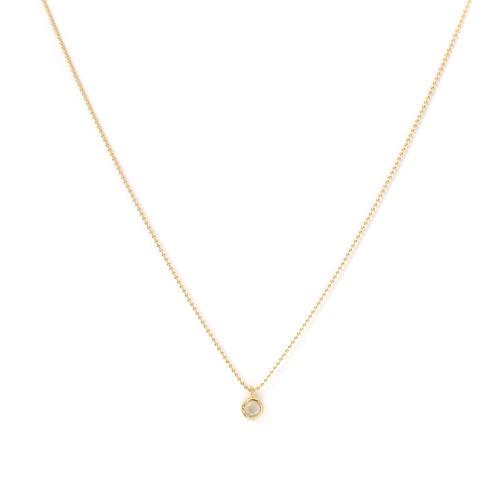 Leah Alexandra Minor Necklace with Moonstone on Gold Fill Chain