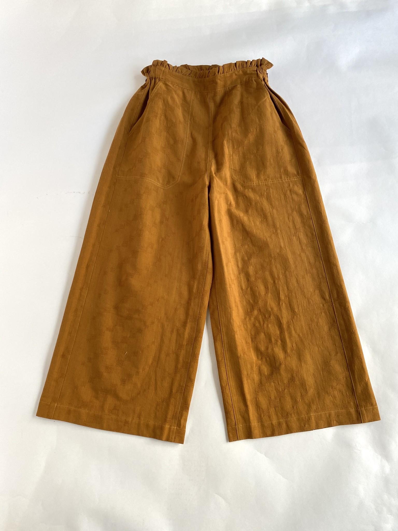 Sideline Wide Leg Cropped Trousers