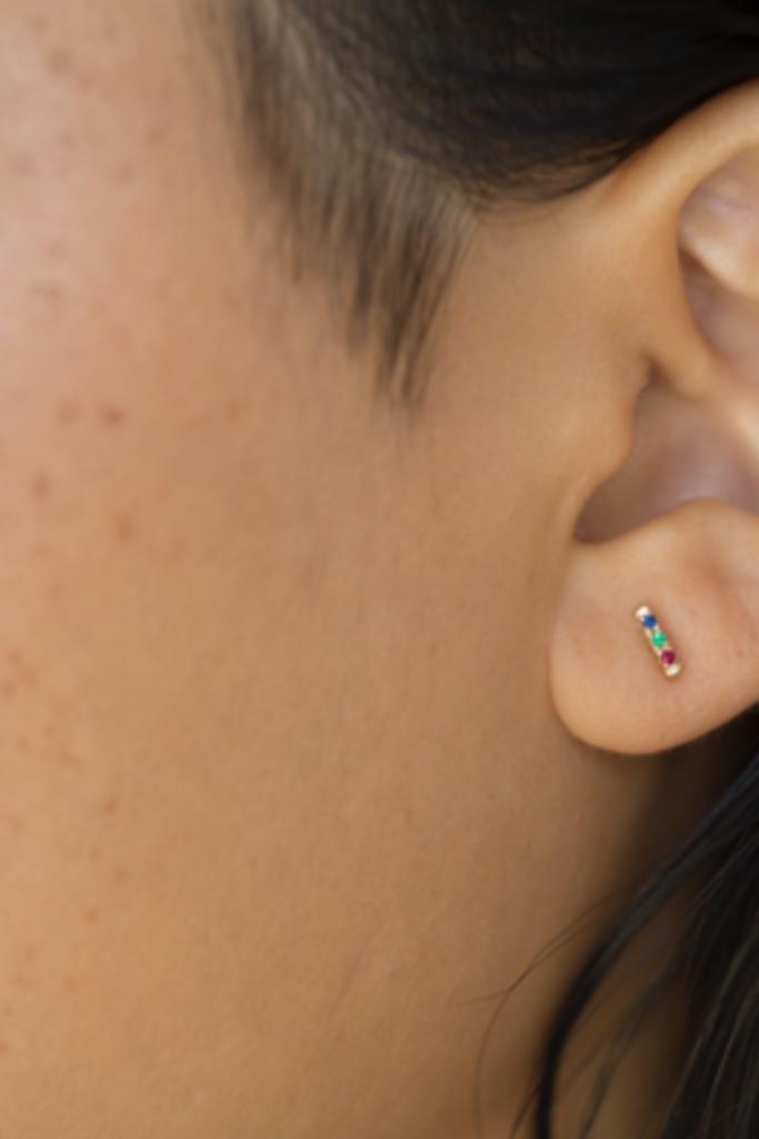 Gjenmi Gjenmi Superbloom 3 Stone Earrings