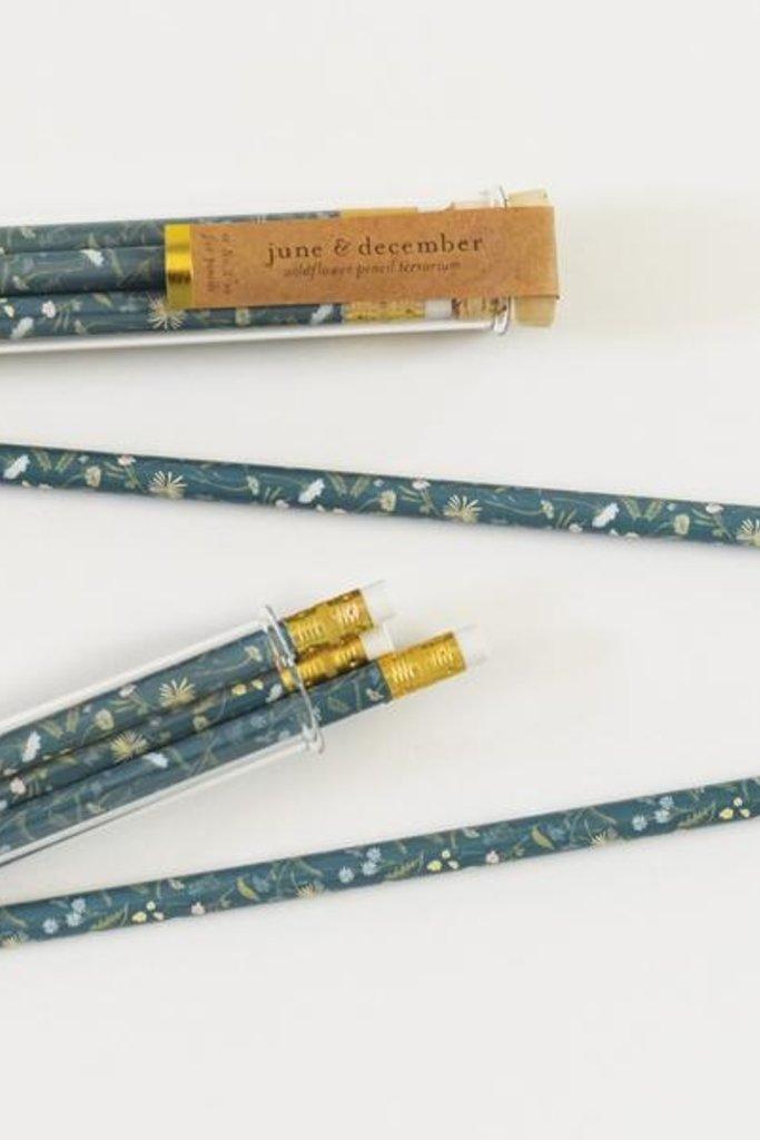 June & December Wildflower Pencil Set