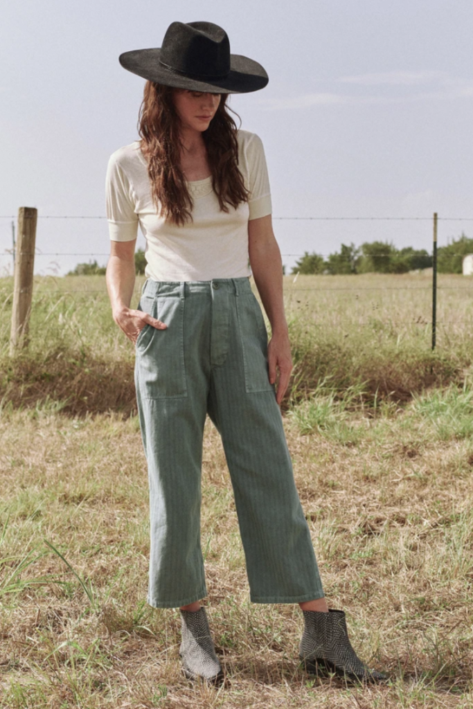 The Great High Waisted Herringbone Trooper Pants
