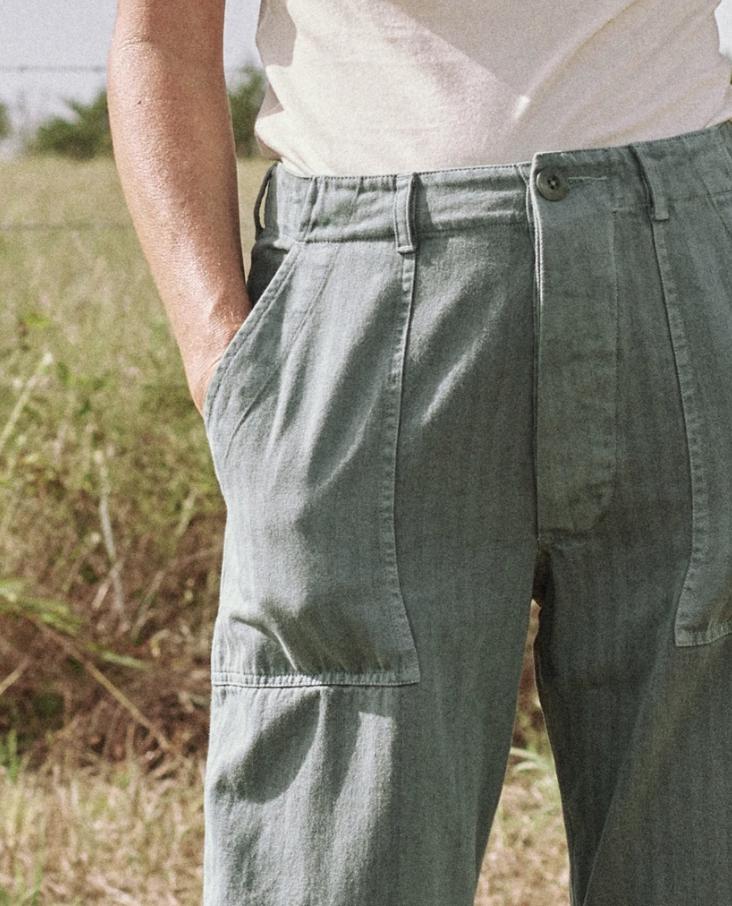 The Great High Waisted Herringbone Trooper Pants