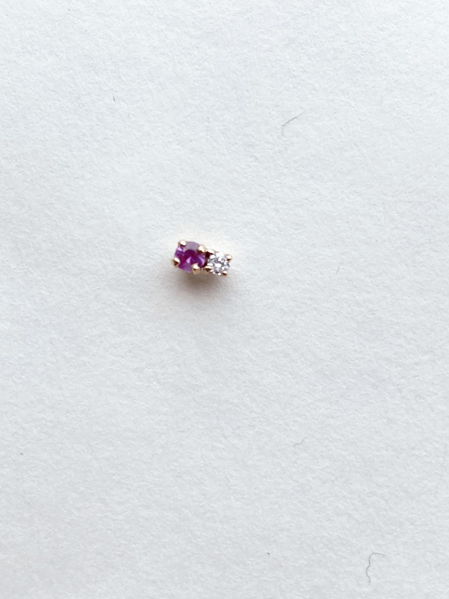 Hortense Hortense Double D Sapphire/Diamond  Earring