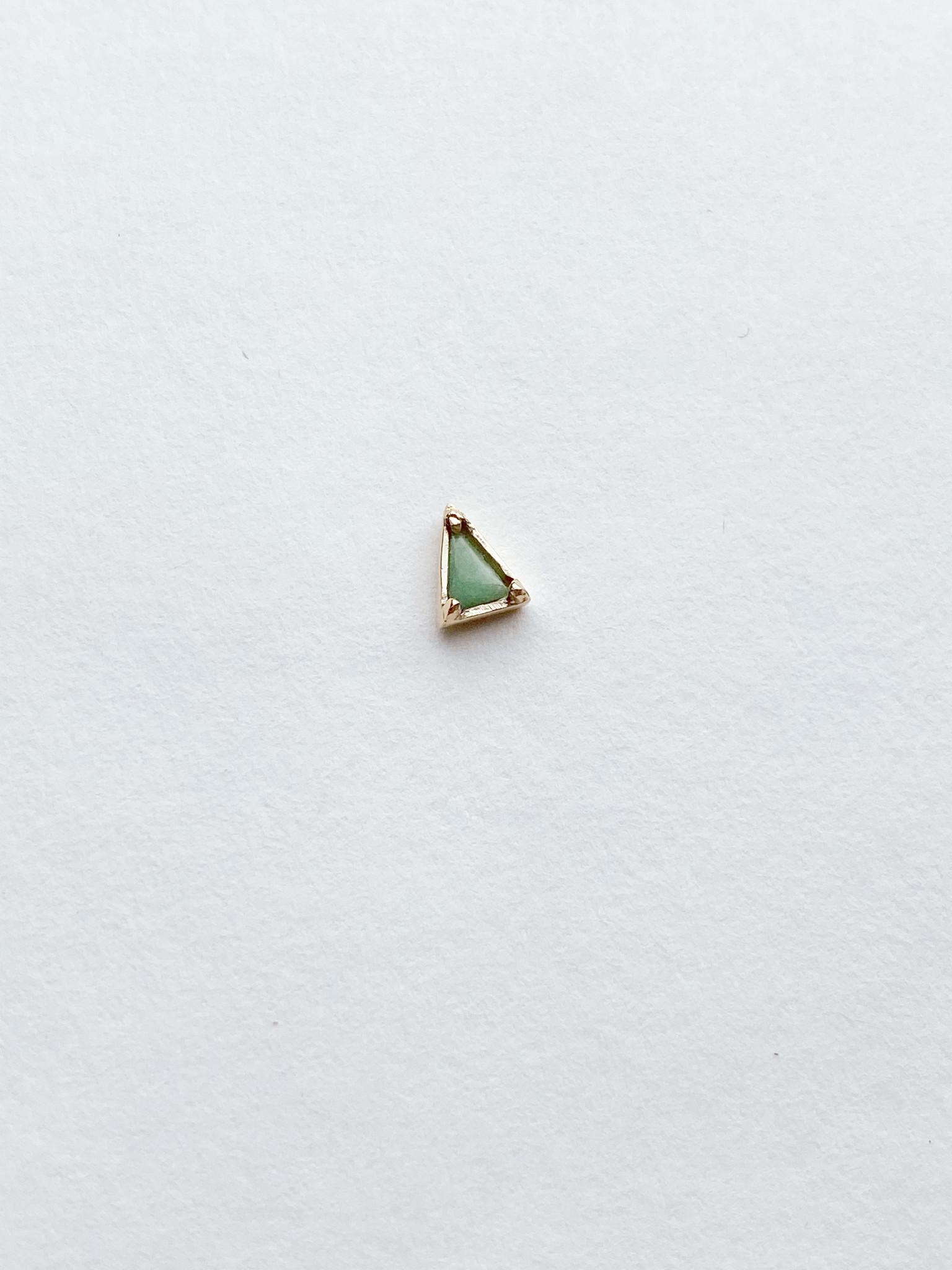 Mociun Mociun Single triangle stud - Multiple gems