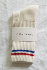 Le Bon Shoppe Boyfriend Socks O/S Milk