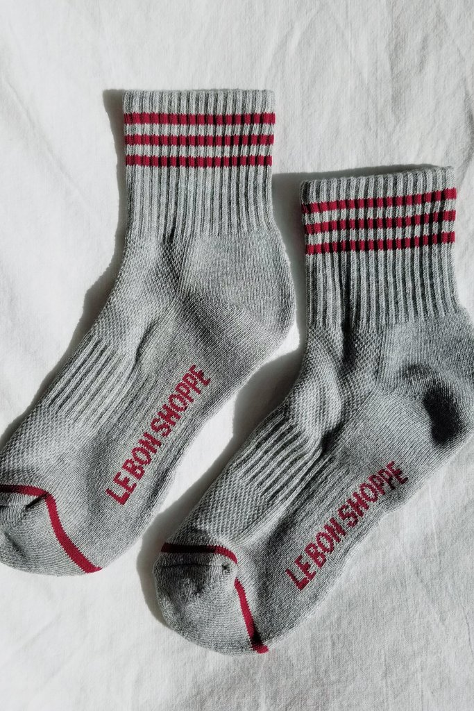 Le Bon Shoppe Girlfriend Socks O/S heather Grey