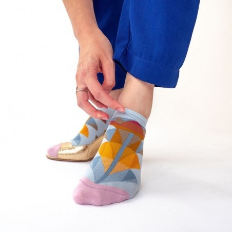 Sky Palm Ankle Socks