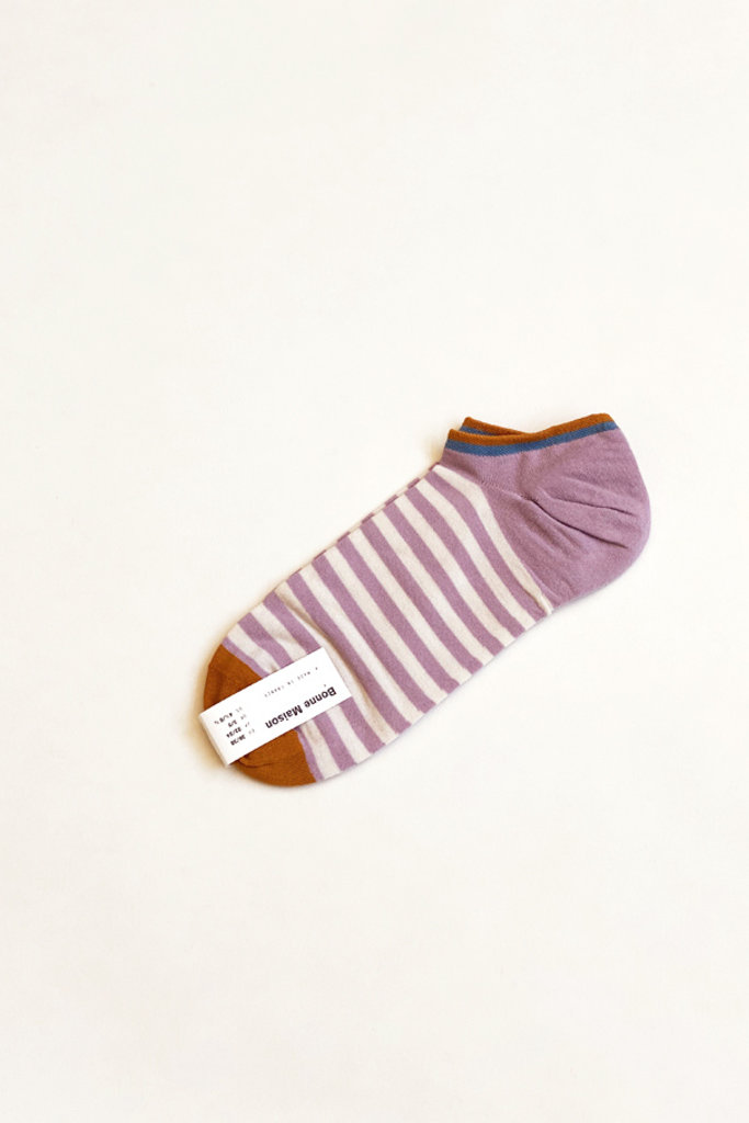 Rosewood Stripe Ankle Socks