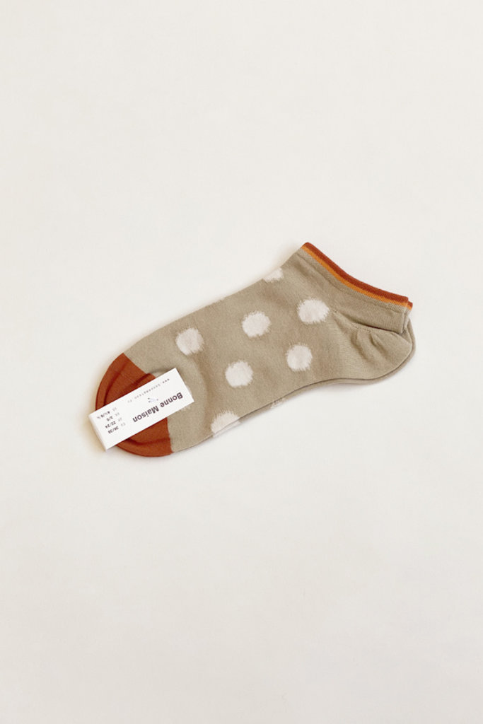 Bonne Maison Sage Polka Dot Ankle Socks - 39/41