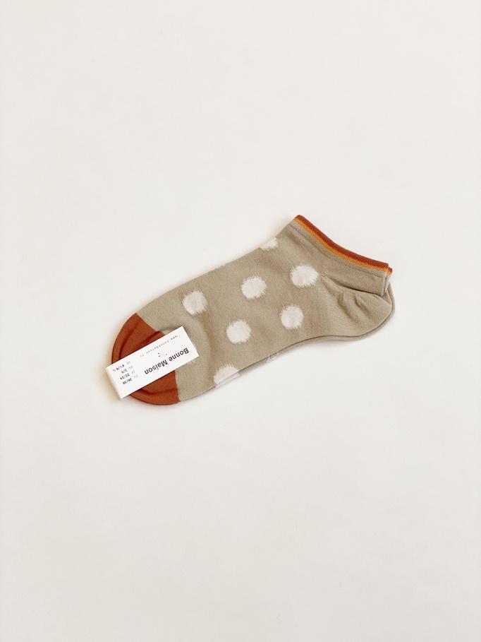 Sage Polka Dot Ankle Socks
