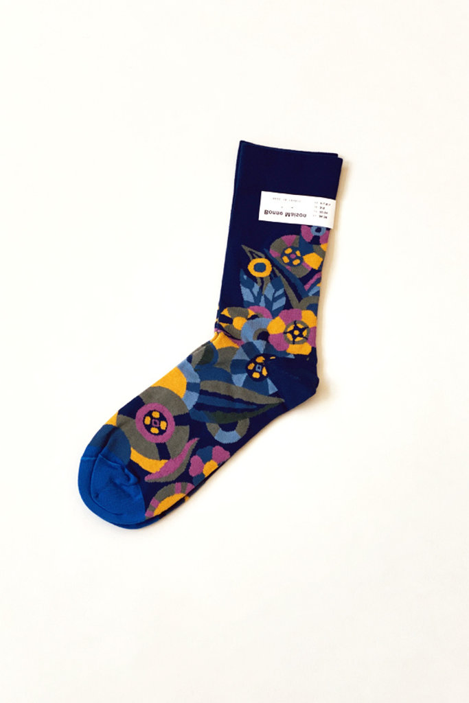 Blue Flower Socks