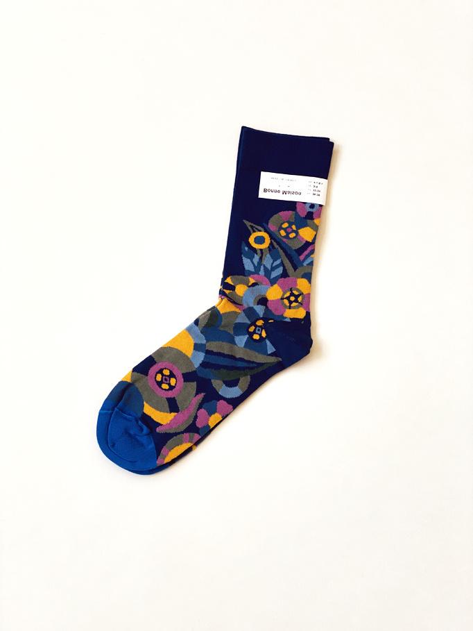 Blue Flower Socks