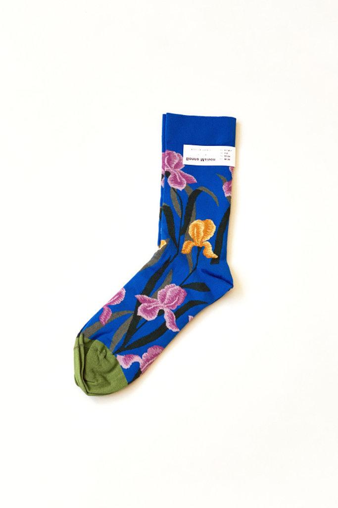 Cobalt Iris Socks