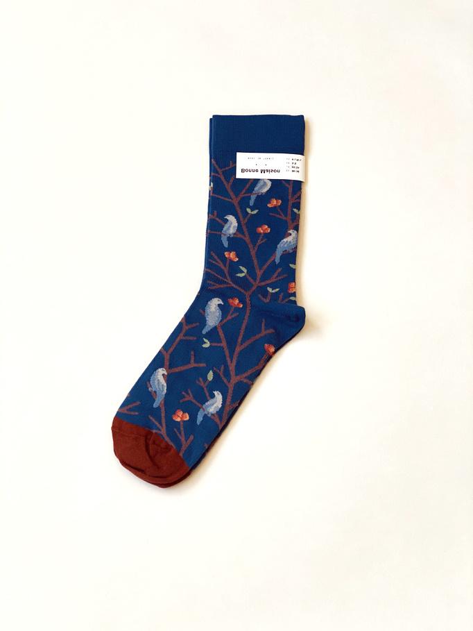 Blue Birds Socks