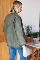 Emerson Fry Emerson Fry India Quilted Jacket in Moss Green
